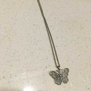 Jewelry - Sterling silver, butterfly necklace